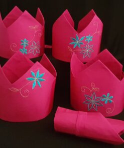 Embroidered Fabric Crowns